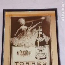 Carteles: ESPEJO PUBLICIDAD VINTAGE BRANDY TORRES AÑOS 80. Lote 192056188