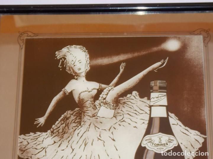 Carteles: ESPEJO PUBLICIDAD VINTAGE BRANDY TORRES AÑOS 80 - Foto 2 - 192056188