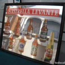 Carteles: ESPEJO CERVEZA ESTRELLA DE LEVANTE, MURCIA.. Lote 192307551