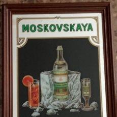 Carteles: CUADRO ESPEJO MOSKOVSKAYA RUSSIAN VODKA. Lote 194194820