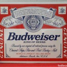 Carteles: CARTEL CHAPA - CERVEZA BUDWEISER. Lote 194206611