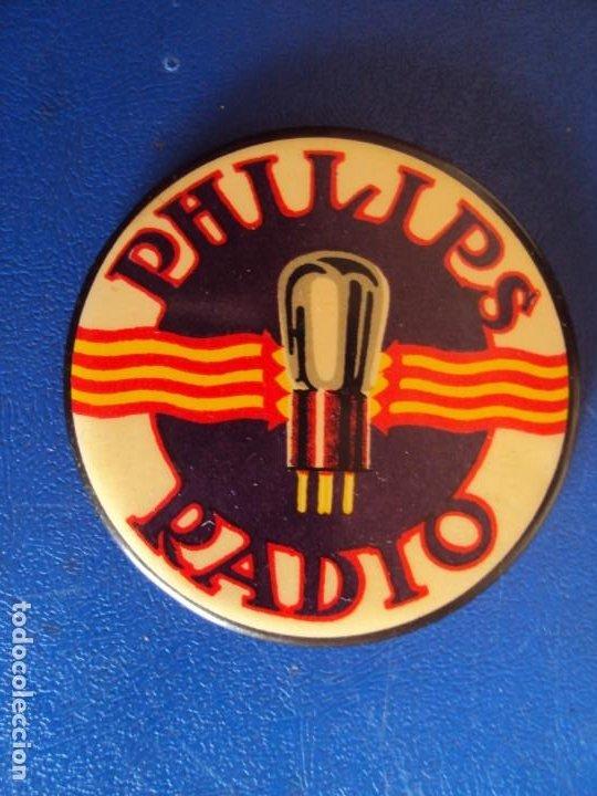 (PUB-200276)ESPEJO PUBLICITARIO PHILIPS RADIO (Coleccionismo - Carteles y Chapas Esmaltadas y Litografiadas)