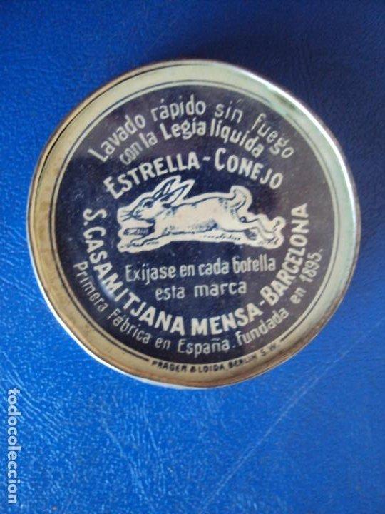 (PUB-200277)ESPEJO PUBLICITARIO LEGIA ESTRELLA - CONEJO (Coleccionismo - Carteles y Chapas Esmaltadas y Litografiadas)