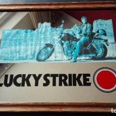 Carteles: CUADRO ESPEJO LUCKY STRIKE. Lote 194281978