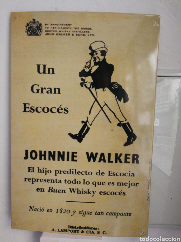 CHAPA DE PUBLICIDAD. JOHNNIE WALKER (Coleccionismo - Carteles y Chapas Esmaltadas y Litografiadas)
