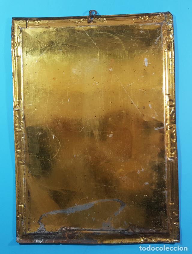 Carteles: CARTEL CHAPA SANCTUS JOSEPHUS ORIOL BENEFICIARIARUS BARCELONENSIS 35,50 X 25 CM - Foto 2 - 194288418