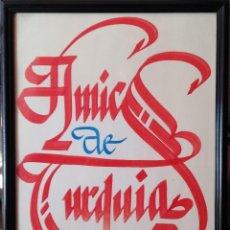Carteles: CARTEL ORIGINAL 38X53 CM. PINTADO A MANO 1970 AMICS DE TURQUIA. Lote 194292501