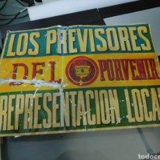 Carteles: CHAPA SEGUROS LOS PREVISORES DEL PORVENIR 40 X 50 CM APROX. Lote 194371102