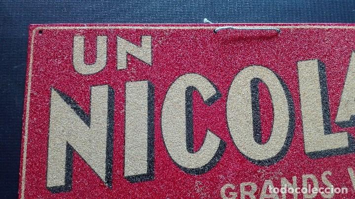 Carteles: CHAPA PUBLICITARIA VINO UN NICOLAS - Foto 3 - 194494320