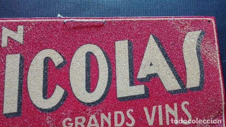 Carteles: CHAPA PUBLICITARIA VINO UN NICOLAS - Foto 4 - 194494320