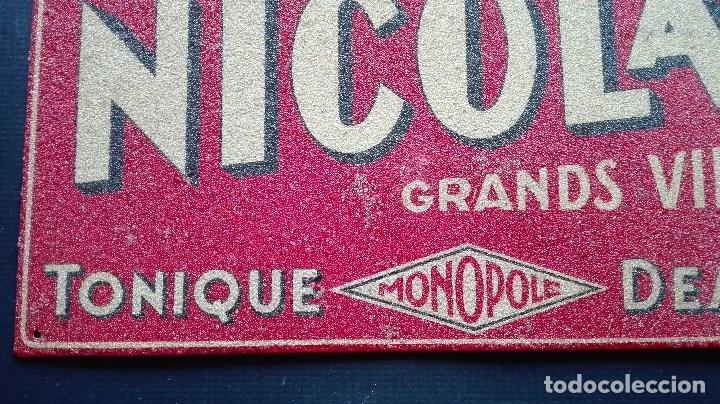 Carteles: CHAPA PUBLICITARIA VINO UN NICOLAS - Foto 6 - 194494320