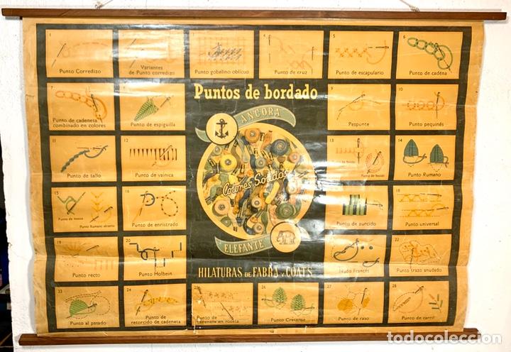 Carteles: Antiguo y grande cartel publicitario Ancora Elefante - Hilaturas Fabra y Coats - tipos de punto - Foto 2 - 194527638
