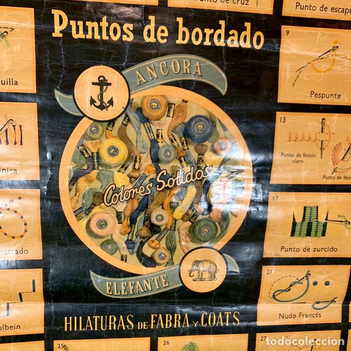 Carteles: Antiguo y grande cartel publicitario Ancora Elefante - Hilaturas Fabra y Coats - tipos de punto - Foto 3 - 194527638