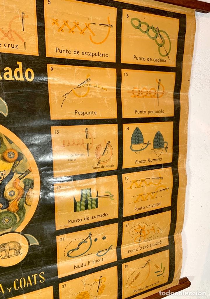 Carteles: Antiguo y grande cartel publicitario Ancora Elefante - Hilaturas Fabra y Coats - tipos de punto - Foto 4 - 194527638