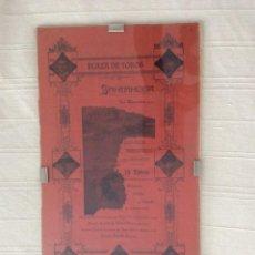 Carteles: CARTEL ORIGINAL EN SEDA DE LA CORRIDA MONSTRUO DE SANTANDER. Lote 194591873