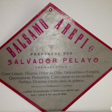 Carteles: CARTEL DE CARTÓN DURO DE BÁLSAMO AREPI.. Lote 194665396