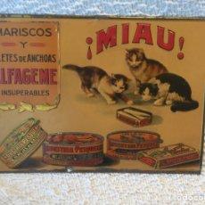 Carteles: CHAPA PUBLICIDAD! MIAU !. Lote 194676211