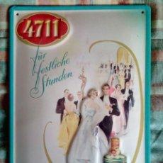 Carteles: CARTEL METÁLICO RELIEVE 4711 COLONIA. Lote 194685390
