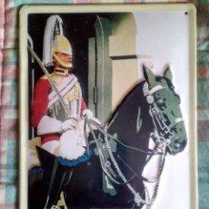 Carteles: CARTEL METÁLICO RELIEVE LONDON.. Lote 194685938
