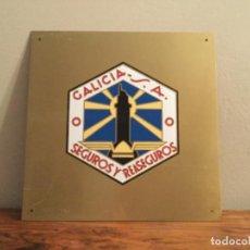 Carteles: CHAPA CARTEL GALICIA S.A SEGUROS I RESEGUROS . Lote 194746762