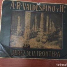 Carteles: CHAPA PUBLICITARIA VALDESPINO JEREZ DE LA FRONTERA, 1910-20. G D ANDREIS SAMPIERDARENA ITALIA . Lote 194770377