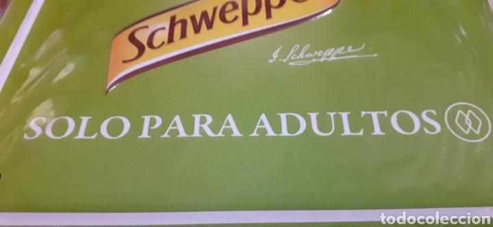 SCHWEPPES SOLO PARA ADULTOS - CARTEL CHAPA - TU LIMÓN DE SIEMPRE - (Coleccionismo - Carteles y Chapas Esmaltadas y Litografiadas)