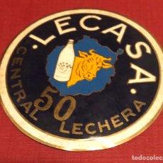 Carteles: PUBLICIDAD; LECHE. PLACA ESMALTADA DE CENTRAL LECHERA. LECASA.. Lote 194956958