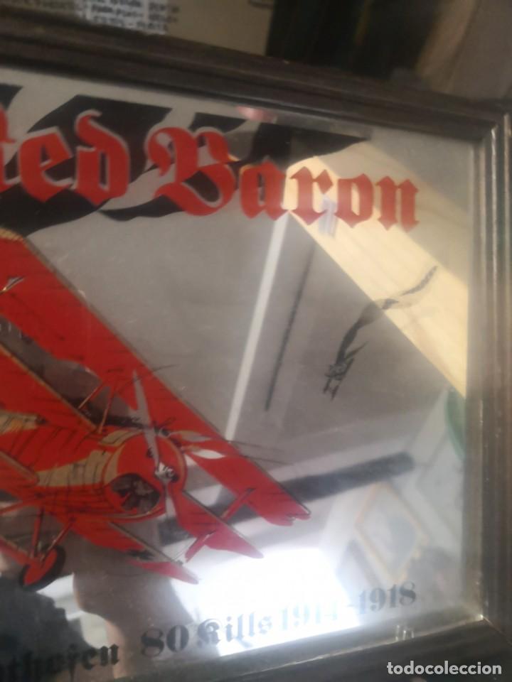Carteles: CARTEL ESPEJO DE PUBLICIDAD the red baron manfred von richthofen 80 kills 1914/15 + avión lata - Foto 3 - 195009311