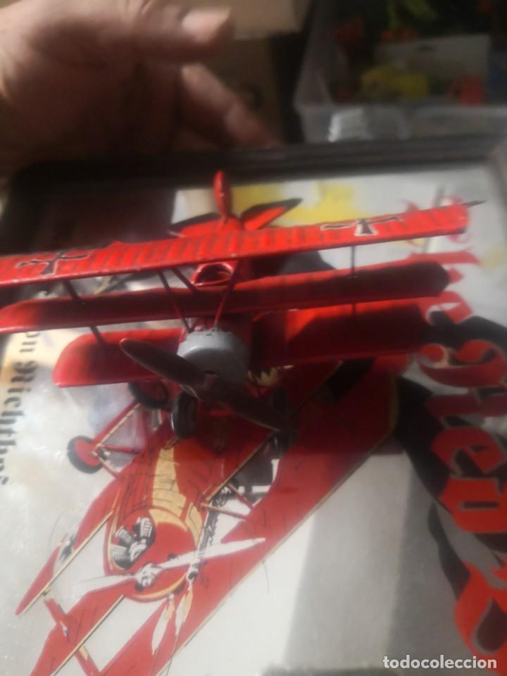 Carteles: CARTEL ESPEJO DE PUBLICIDAD the red baron manfred von richthofen 80 kills 1914/15 + avión lata - Foto 6 - 195009311