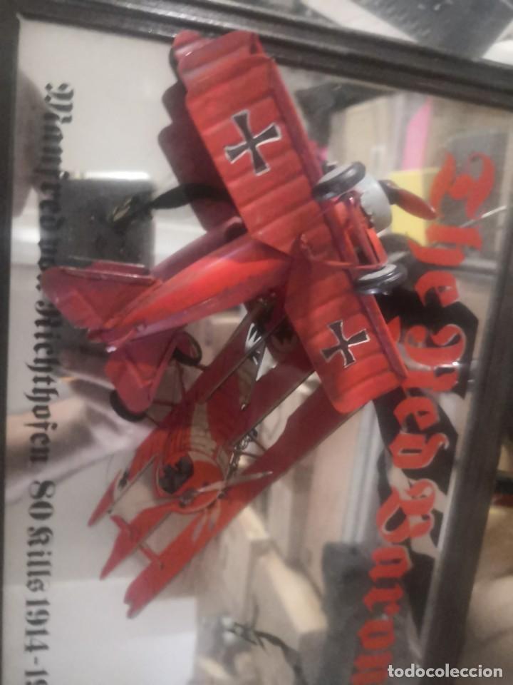 Carteles: CARTEL ESPEJO DE PUBLICIDAD the red baron manfred von richthofen 80 kills 1914/15 + avión lata - Foto 7 - 195009311