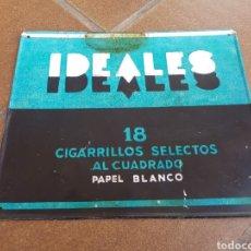 Carteles: CHAPA METÁLICA PUBLICIDAD TABACO IDEALES. Lote 195103415