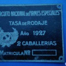 Carteles: CIRCUITO NACIONAL FIRMES ESPECIALES , 2 CABALLERÍAS , AÑO 1927. Lote 195133820