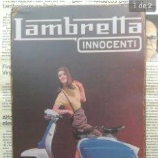 Carteles: CARTEL DE CHAPA PUBLICIDAD LAMBRETTA. Lote 195143767