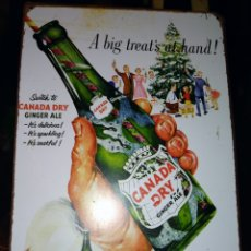 Carteles: PLACA CHAPA CANADA DRY GINGER ALE.. Lote 195178327