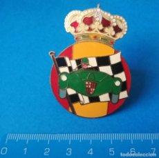 Carteles: CHAPA ANTIGUA DE COCHES ANTIGUOS BARCELONA. Lote 195194631