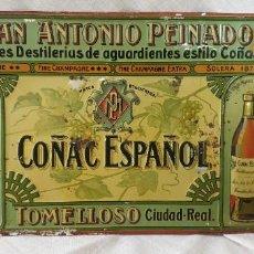 Carteles: JUAN ANTONIO PEINADO TOMELLOSO CHAPA - PLACA ORIGINAL. Lote 195209491