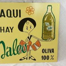 Carteles: CHAPA - AQUI HAY JALEO - ACEITE - GASPAR PERAL ALICANTE. Lote 195210105