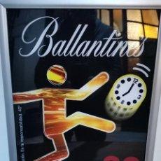 Carteles: LUMINIOSO PUBLICITARIO DE INTERIOR BALLANTINES GO PLAY. Lote 195215307