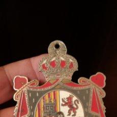Carteles: ANTIGUA CHAPA DEL HOTEL REINA CRISTINA DE ALGECIRAS. Lote 195312535