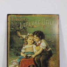 Carteles: CARTEL CHAPA METALICA BISCUITS LEFÉVRE-UTILE. Lote 195354640