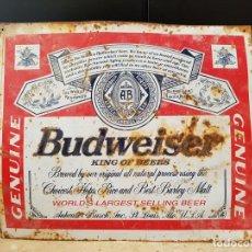 Carteles: CARTEL CERVEZA BUDWEISER. Lote 195367386