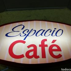 Carteles: CARTEL. LETRERO LUMINOSO.METAL Y METACRILATO. ESPACIO CAFE. UNICO EN TC.. Lote 195386207