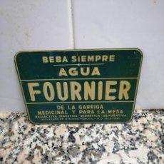Carteles: ANTIGUA CHAPA AGUA FOURNIER DE LA GARRIGA. Lote 195489586