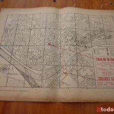 Carteles: PLANO DE SEVILLA EDITADO POR PUBLICIDAD BELLIDO-PUBLISITARIA DE LOZA CARTUJA Y CERAMICA SANTA ANA. Lote 195503322