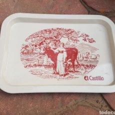 Carteles: BANDEJA DE PUBLICIDAD LECHE EL CASTILLO. Lote 196035117