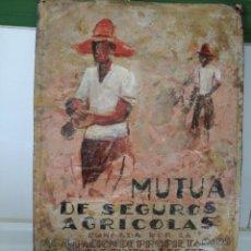 Carteles: ANTIGUA CHAPA LITOGRAFÍADA DE MUTUA DE SEGUROS AGRÍCOLAS. Lote 196369986