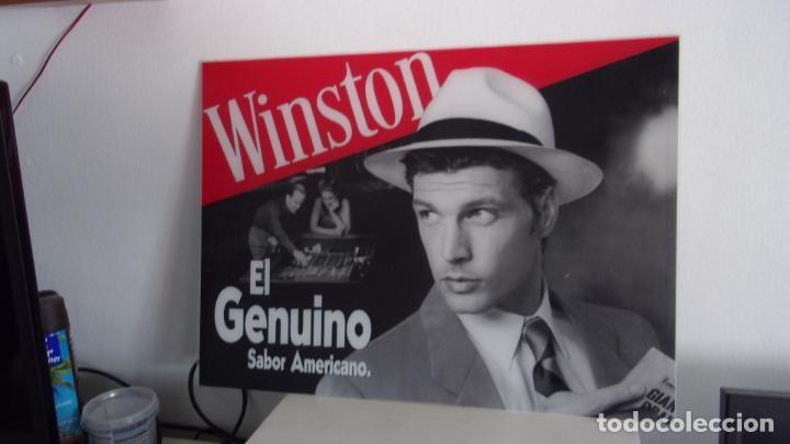 Carteles: cartel publicidad winston,metacrilato,mide 56 cm por 41 cm.buen estado - Foto 2 - 196595436