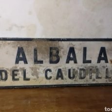 Carteles: EL CAUDILLO. CARTEL ANTIGUO DEL CAUDILLO. CARTEL ANTIGUO ALBALA DEL CAUDILLO. Lote 197959700