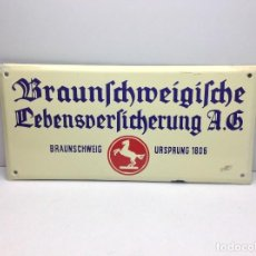 Carteles: CHAPA ESMALTADA - PLACA DE SEGUROS URSPRUNG 1806 - SEGUROS ALEMANIA - MADE IN GERMANY . Lote 197993101