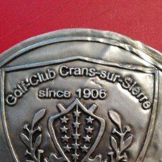 Carteles: CHAPA GOLF-CLUB CRANS-SUR-SIERRO, SINCE 1906 SUISSE.. Lote 198836930